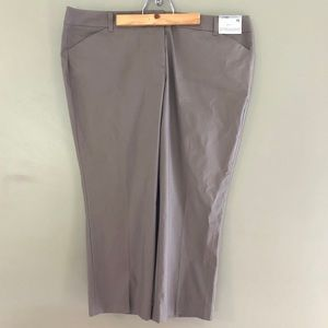 NY&Co MidRise Stretch Straight Tan Pants Inseam 23